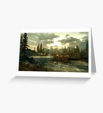 Skyrim landscape  Greeting Card