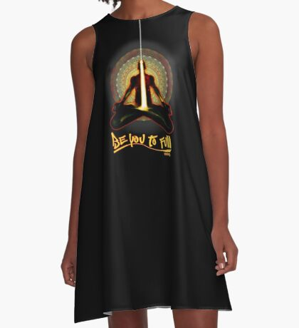 meditator - beyoutofull A-Line Dress