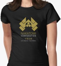 Nakatomi Gold Los Angeles California Womens Fitted T-Shirt