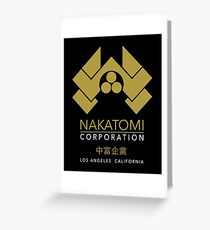 Nakatomi Gold Los Angeles California Greeting Card