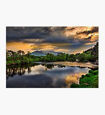 River Laune Sunset Photographic Print