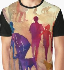 Dogs on the walk Graphic T-Shirt