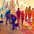 Dogs on the walk by Maja Wrońska