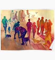 Dogs on the walk Poster
