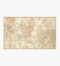 Civil War Battlefield Maps from 1895 Photographic Print