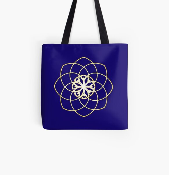 Many hearts, Much Joy! - Gold Phi Spiral All Over Print Tote Bag