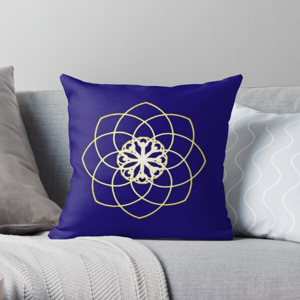 Many hearts, Much Joy! - Gold Phi Spiral Throw Pillow