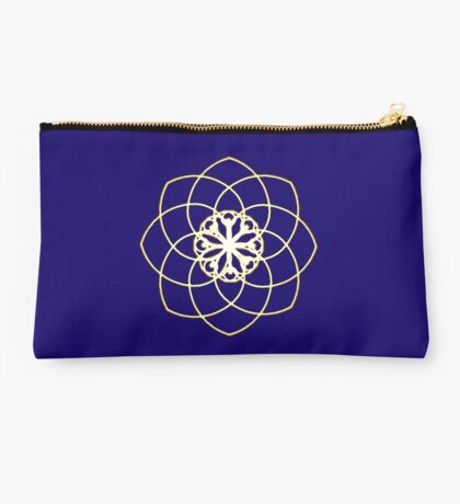 Many hearts, Much Joy! - Gold Phi Spiral Studio Pouch