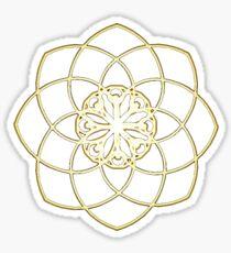 Many hearts, Much Joy! - Gold Phi Spiral Sticker