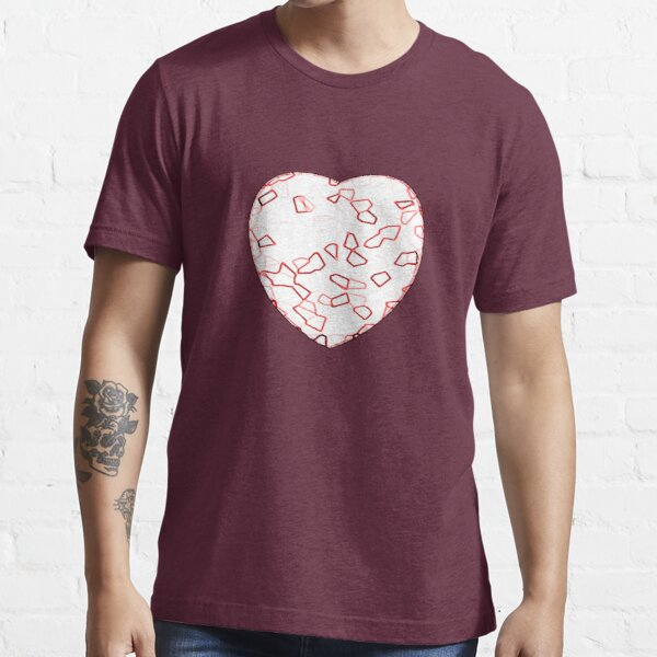 Stylised Red & White Heart Essential T-Shirt
