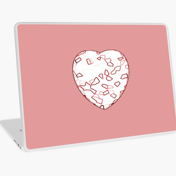 Stylised Red & White Heart Laptop Skin