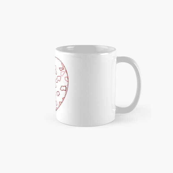 Stylised Red & White Heart Classic Mug
