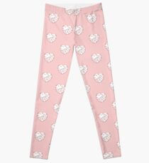 Stylised Red & White Heart Leggings