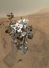 Selbstporträt von Curiosity Rover im Gale Krater auf der Oberfläche des Mars. von StocktrekImages