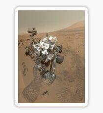 Selbstporträt von Curiosity Rover im Gale Krater auf der Oberfläche des Mars. Sticker