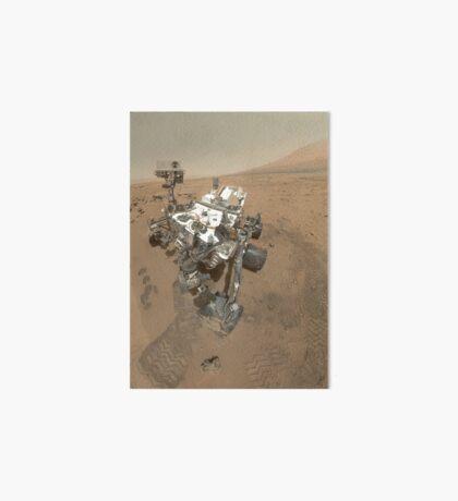 Selbstporträt von Curiosity Rover im Gale Krater auf der Oberfläche des Mars. Galeriedruck