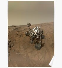 Self-portrait of Curiosity rover on the surface of Mars. Poster