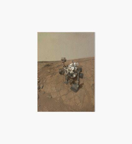 Selbstporträt von Curiosity Rover auf der Oberfläche des Mars. Galeriedruck