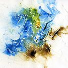 Blue and brown abstract by Simon Rudd