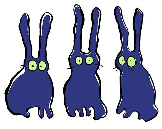 3 bunnies by greendeer