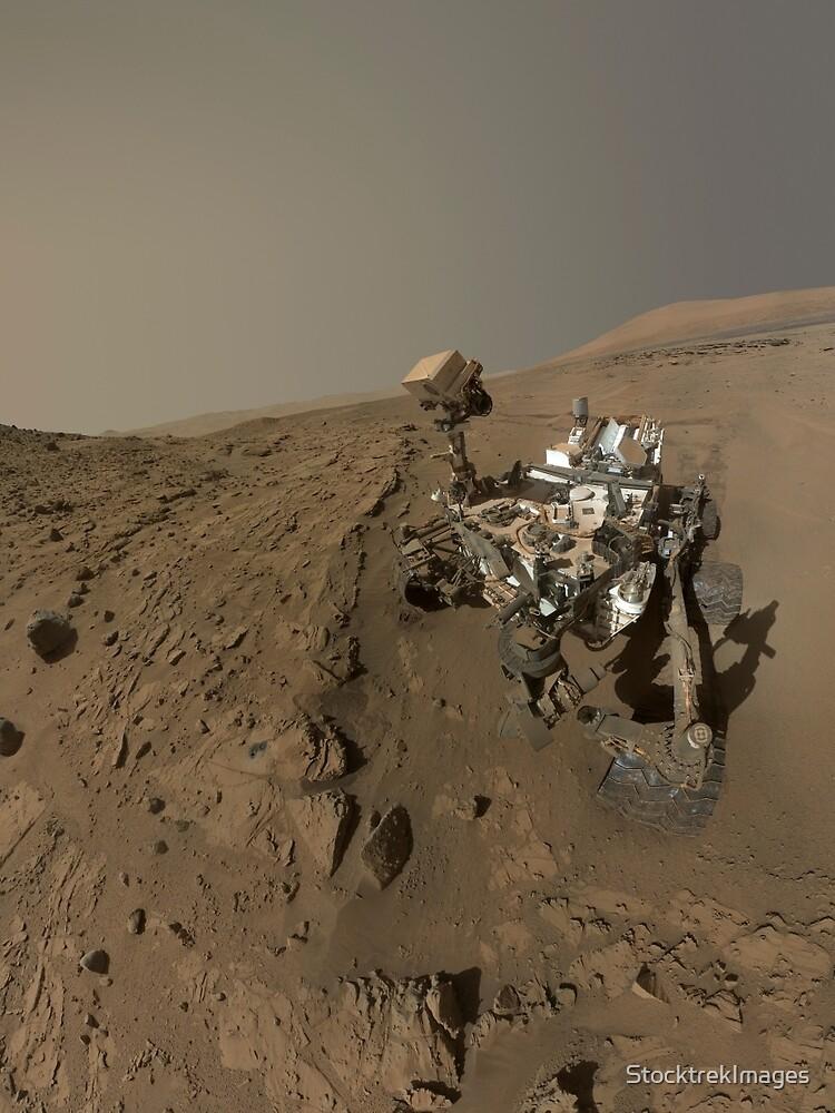 NASAs Curiosity Mars-Rover auf dem Planeten Mars. von StocktrekImages