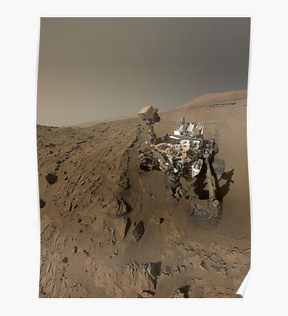 NASAs Curiosity Mars-Rover auf dem Planeten Mars. Poster