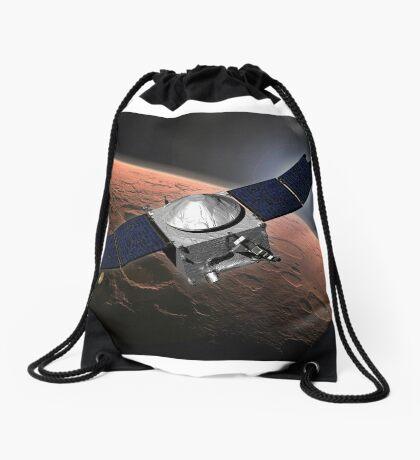 Künstlerkonzept der Mars Atmosphere und Volatile Evolution Mission der NASA. Turnbeutel