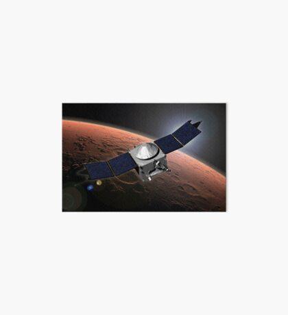 Künstlerkonzept der Mars Atmosphere und Volatile Evolution Mission der NASA. Galeriedruck