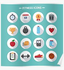 Fitness icons Poster