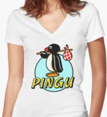 Penguin NUT Women's Fitted V-Neck T-Shirt