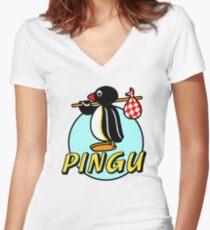 Penguin NUT Women's Fitted V-Neck T-Shirt