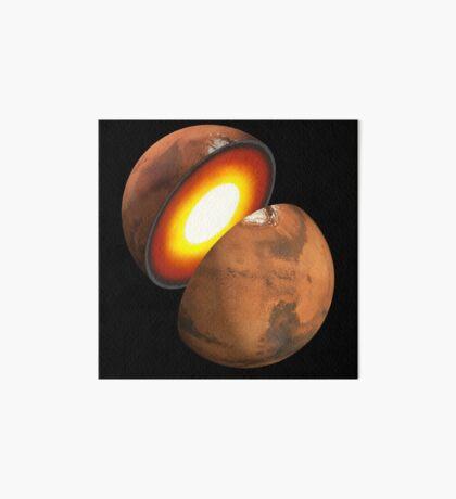 Das Konzept des Künstlers der Bildung von felsigen Körpern im Sonnensystem. Galeriedruck
