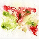 red and green abstract by Simon Rudd
