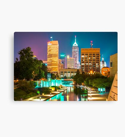 An Evening in Indianapolis Canvas Print