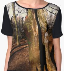 Merlin Carved in the Woods Chiffon Top