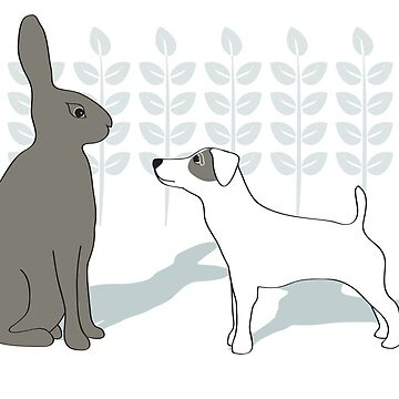 Jack Russell and Hare by victoriawalkden