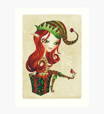 Elfie Elf Art Print
