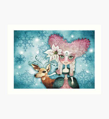 Noelle's Winter Magic Art Print