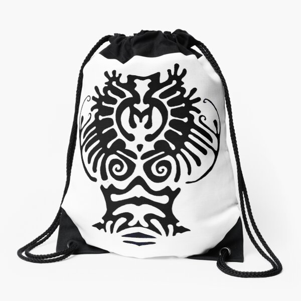 This is a cracy deer Drawstring Bag