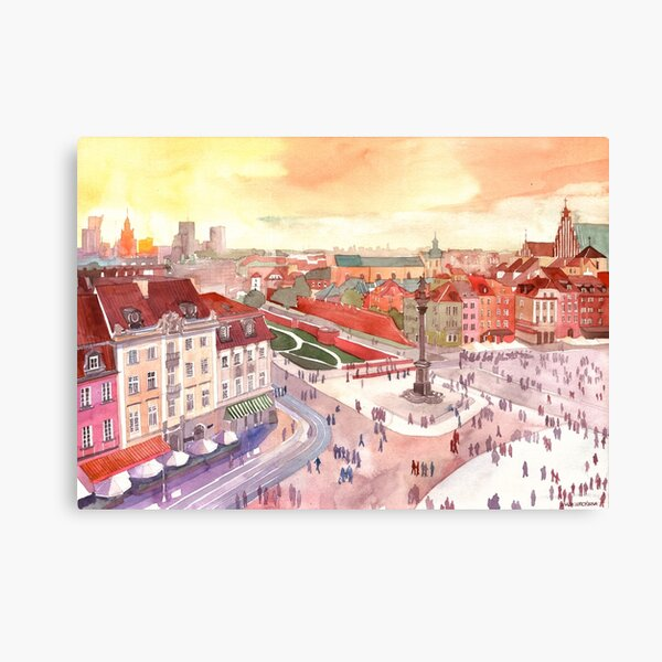 Sunset in Warsaw Canvas Print