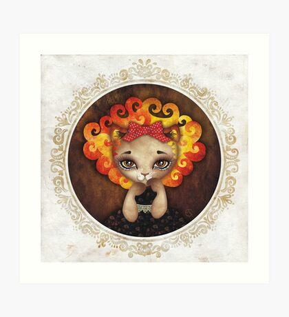 Cowardly Lioness Art Print