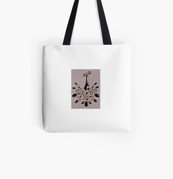 Peacock pattern  All Over Print Tote Bag