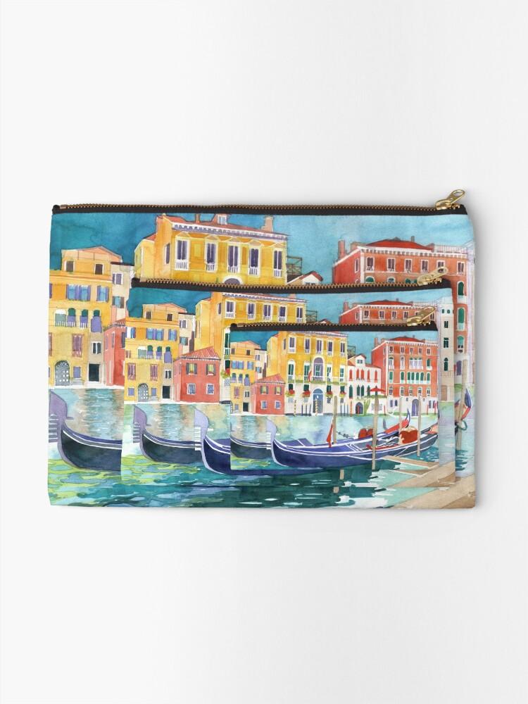 Alternate view of canal in Venice vol 2 Zipper Pouch
