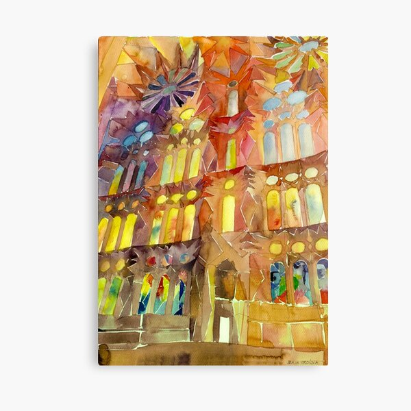 Sagrada Familia Barcelona interior Canvas Print