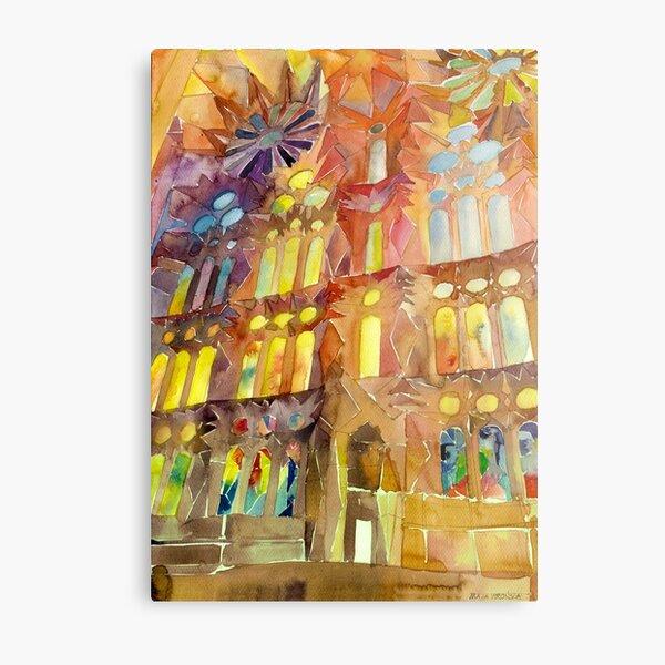 Sagrada Familia Barcelona interior Metal Print