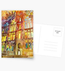 Sagrada Familia Barcelona interior Postcards