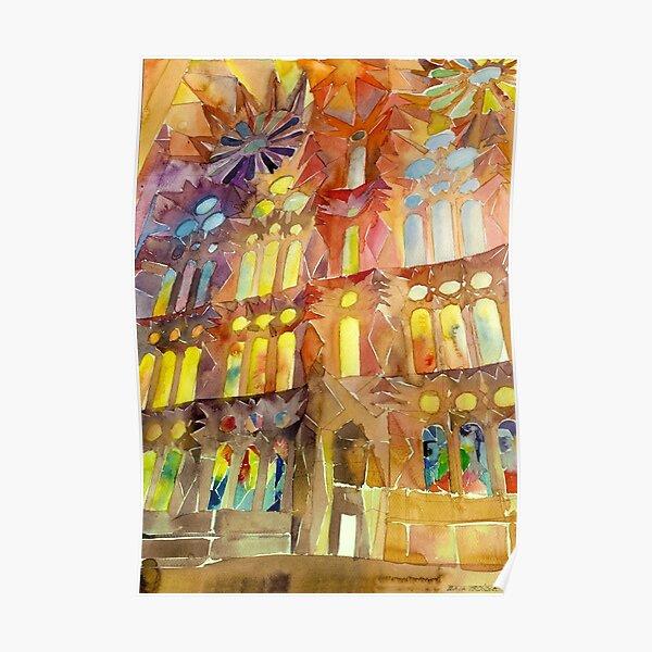 Sagrada Familia Barcelona interior Poster