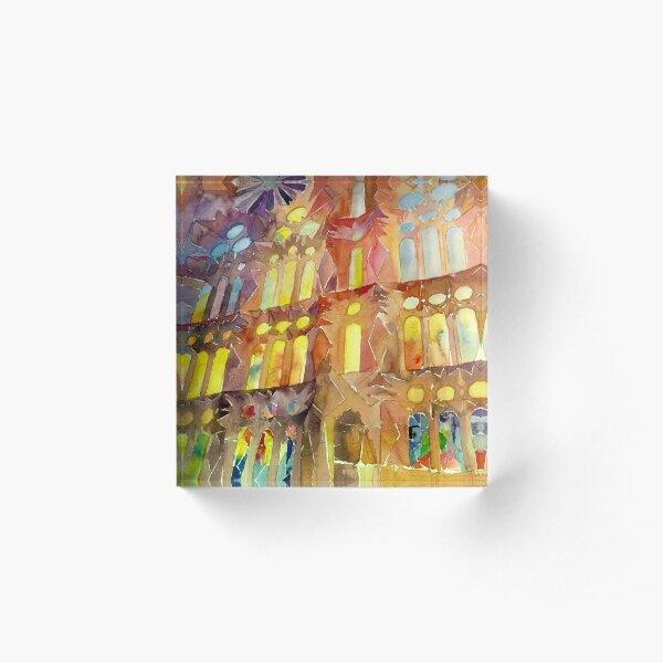 Sagrada Familia Barcelona interior Acrylic Block
