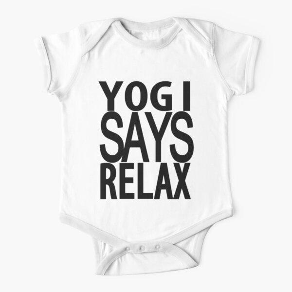 YOGI SAYS RELAX Short Sleeve Baby One-Piece