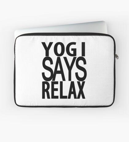 YOGI SAYS RELAX Laptop Sleeve